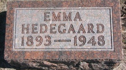 JOHNSON HEDEGAARD, EMMA - Charles Mix County, South Dakota | EMMA JOHNSON HEDEGAARD - South Dakota Gravestone Photos