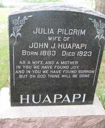 PILGRIM HUAPAPI, JULIA - Charles Mix County, South Dakota | JULIA PILGRIM HUAPAPI - South Dakota Gravestone Photos