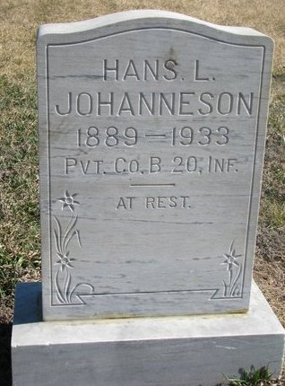 JOHANNESON, HANS L. - Charles Mix County, South Dakota   HANS L. JOHANNESON - South Dakota Gravestone Photos