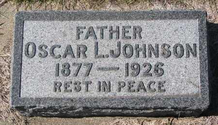 JOHNSON, OSCAR L. - Charles Mix County, South Dakota | OSCAR L. JOHNSON - South Dakota Gravestone Photos