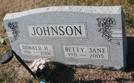 JOHNSON, BETTY JANE - Charles Mix County, South Dakota | BETTY JANE JOHNSON - South Dakota Gravestone Photos