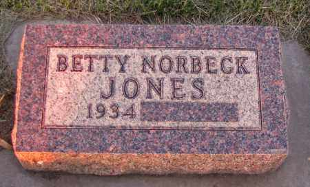 NORBECK JONES, BETTY - Charles Mix County, South Dakota | BETTY NORBECK JONES - South Dakota Gravestone Photos