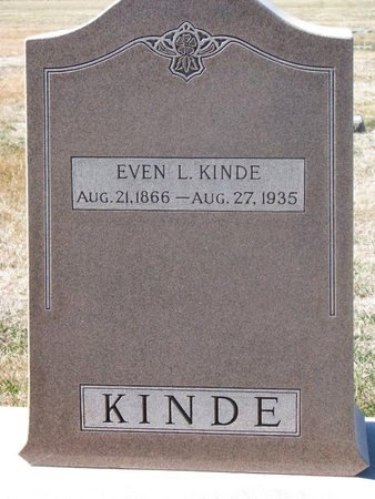 KINDE, EVEN L. - Charles Mix County, South Dakota | EVEN L. KINDE - South Dakota Gravestone Photos