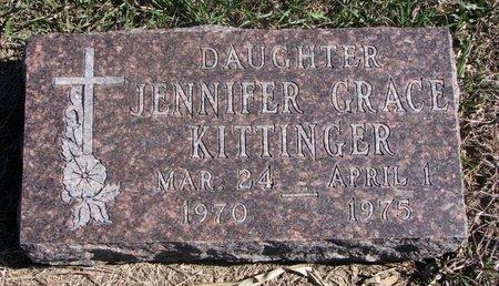 KITTINGER, JENNIFER GRACE - Charles Mix County, South Dakota | JENNIFER GRACE KITTINGER - South Dakota Gravestone Photos