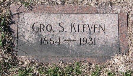 KLEVEN, GRO. S. - Charles Mix County, South Dakota | GRO. S. KLEVEN - South Dakota Gravestone Photos