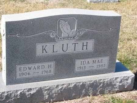 KLUTH, EDWARD HENRY - Charles Mix County, South Dakota | EDWARD HENRY KLUTH - South Dakota Gravestone Photos