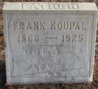 KOUPAL, FRANK - Charles Mix County, South Dakota | FRANK KOUPAL - South Dakota Gravestone Photos