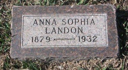 LANDON, ANNA SOPHIA - Charles Mix County, South Dakota   ANNA SOPHIA LANDON - South Dakota Gravestone Photos