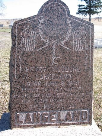 LANGELAND, HENRY THEODORE - Charles Mix County, South Dakota   HENRY THEODORE LANGELAND - South Dakota Gravestone Photos