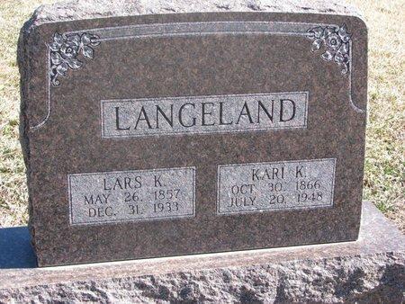 AARHUS LANGELAND, KARI KNUTSDATTER - Charles Mix County, South Dakota   KARI KNUTSDATTER AARHUS LANGELAND - South Dakota Gravestone Photos