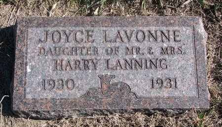LANNING, JOYCE LAVONNE - Charles Mix County, South Dakota | JOYCE LAVONNE LANNING - South Dakota Gravestone Photos