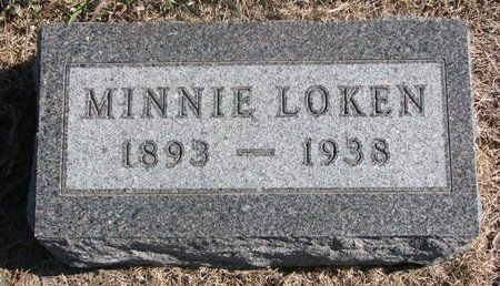 LOKEN, MINNIE - Charles Mix County, South Dakota   MINNIE LOKEN - South Dakota Gravestone Photos