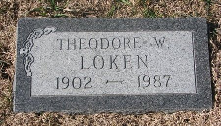 LOKEN, THEODORE W. - Charles Mix County, South Dakota | THEODORE W. LOKEN - South Dakota Gravestone Photos