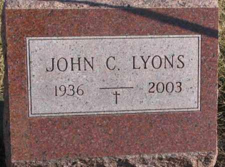 LYONS, JOHN C. - Charles Mix County, South Dakota   JOHN C. LYONS - South Dakota Gravestone Photos