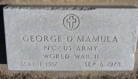 MAMULA, GEORGE D. - Charles Mix County, South Dakota | GEORGE D. MAMULA - South Dakota Gravestone Photos