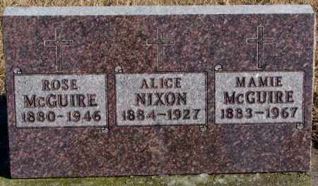 NIXON, ALICE - Charles Mix County, South Dakota   ALICE NIXON - South Dakota Gravestone Photos