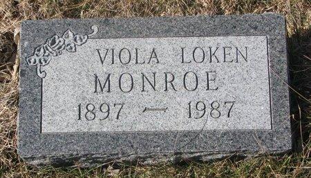 MONROE, VIOLA - Charles Mix County, South Dakota | VIOLA MONROE - South Dakota Gravestone Photos