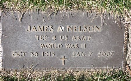 NELSON, JAMES A. (MILITARY) - Charles Mix County, South Dakota | JAMES A. (MILITARY) NELSON - South Dakota Gravestone Photos
