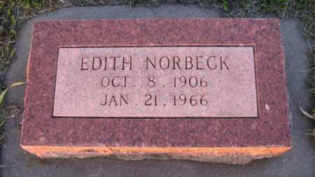 NORBECK, EDITH - Charles Mix County, South Dakota   EDITH NORBECK - South Dakota Gravestone Photos