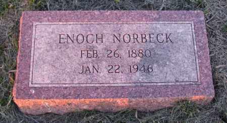 NORBECK, ENOCH - Charles Mix County, South Dakota   ENOCH NORBECK - South Dakota Gravestone Photos