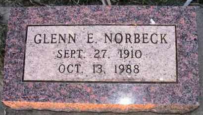 NORBECK, GLENN - Charles Mix County, South Dakota | GLENN NORBECK - South Dakota Gravestone Photos