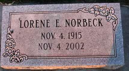 NORBECK, LORENE - Charles Mix County, South Dakota | LORENE NORBECK - South Dakota Gravestone Photos