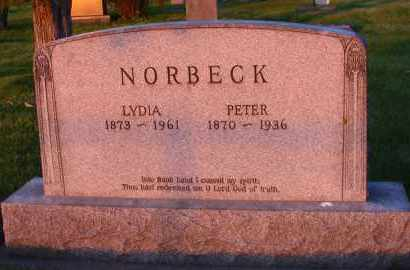 NORBECK, LYDIA - Charles Mix County, South Dakota | LYDIA NORBECK - South Dakota Gravestone Photos