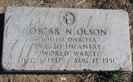 OLSON, OSCAR N. - Charles Mix County, South Dakota   OSCAR N. OLSON - South Dakota Gravestone Photos