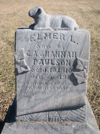 PAULSON, ELMER L. - Charles Mix County, South Dakota   ELMER L. PAULSON - South Dakota Gravestone Photos