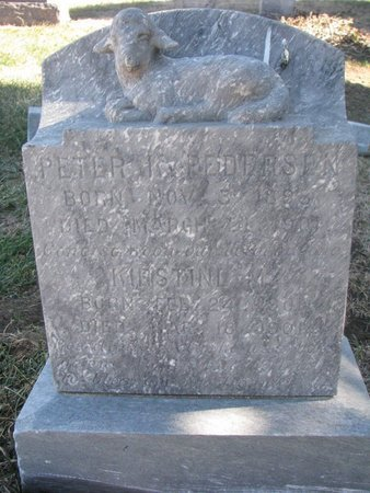 PEDERSEN, KIRSTINE M. - Charles Mix County, South Dakota   KIRSTINE M. PEDERSEN - South Dakota Gravestone Photos
