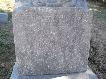 PEDERSEN, PETER K. (CLOSE UP) - Charles Mix County, South Dakota | PETER K. (CLOSE UP) PEDERSEN - South Dakota Gravestone Photos