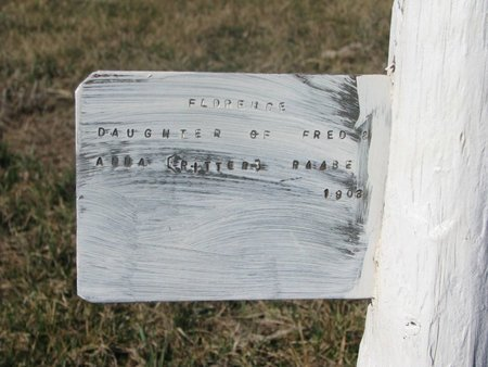 RAABE, FLORENCE (CLOSE UP) - Charles Mix County, South Dakota | FLORENCE (CLOSE UP) RAABE - South Dakota Gravestone Photos