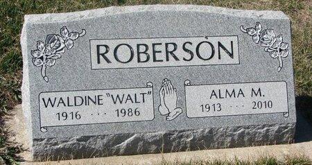 "ROBERSON, WALDINE H. ""WALT"" - Charles Mix County, South Dakota | WALDINE H. ""WALT"" ROBERSON - South Dakota Gravestone Photos"
