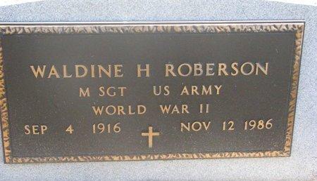 ROBERSON, WALDINE H. (MILITARY) - Charles Mix County, South Dakota | WALDINE H. (MILITARY) ROBERSON - South Dakota Gravestone Photos