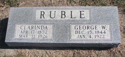 RUBLE, CLARINDA - Charles Mix County, South Dakota | CLARINDA RUBLE - South Dakota Gravestone Photos