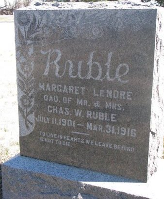 RUBLE, MARGARET LENORE - Charles Mix County, South Dakota | MARGARET LENORE RUBLE - South Dakota Gravestone Photos