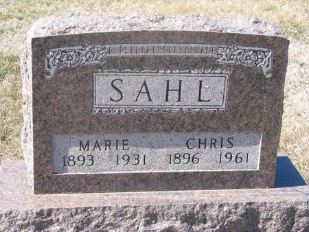 SAHL, FRANDSINE MARIE - Charles Mix County, South Dakota | FRANDSINE MARIE SAHL - South Dakota Gravestone Photos