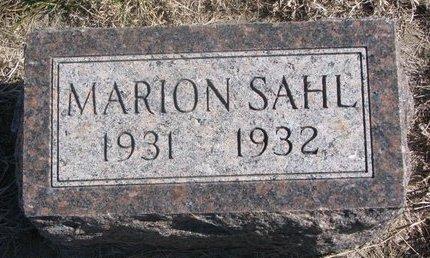 WARNER SAHL, MARION - Charles Mix County, South Dakota | MARION WARNER SAHL - South Dakota Gravestone Photos