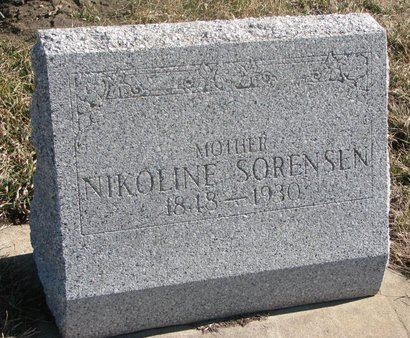 SORENSEN, NIKOLINE - Charles Mix County, South Dakota | NIKOLINE SORENSEN - South Dakota Gravestone Photos