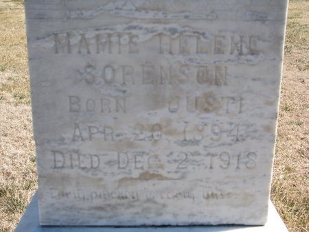 SORENSON, MAMIE HELENE (CLOSE UP) - Charles Mix County, South Dakota | MAMIE HELENE (CLOSE UP) SORENSON - South Dakota Gravestone Photos