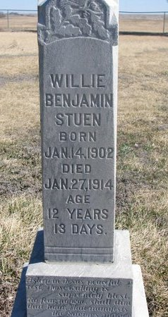 STUEN, WILLIE BENJAMIN - Charles Mix County, South Dakota | WILLIE BENJAMIN STUEN - South Dakota Gravestone Photos