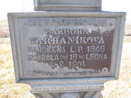 VARHANIKOVA, BARBORA (CLOSE UP) - Charles Mix County, South Dakota   BARBORA (CLOSE UP) VARHANIKOVA - South Dakota Gravestone Photos