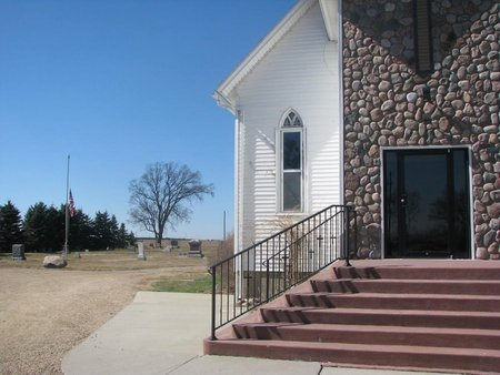 *VIEW, CHURCH & CEMETERY - Charles Mix County, South Dakota | CHURCH & CEMETERY *VIEW - South Dakota Gravestone Photos