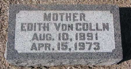 VON COLLN, EDITH - Charles Mix County, South Dakota | EDITH VON COLLN - South Dakota Gravestone Photos