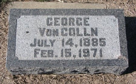 VON COLLN, GEORGE - Charles Mix County, South Dakota | GEORGE VON COLLN - South Dakota Gravestone Photos