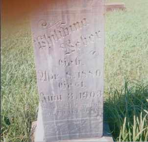 WEBER, PHILIPINA - Charles Mix County, South Dakota   PHILIPINA WEBER - South Dakota Gravestone Photos