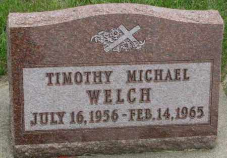 WELCH, TIMOTHY MICHAEL - Charles Mix County, South Dakota   TIMOTHY MICHAEL WELCH - South Dakota Gravestone Photos