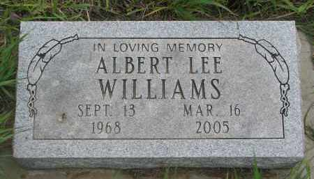 WILLIAMS, ALBERT LEE - Charles Mix County, South Dakota | ALBERT LEE WILLIAMS - South Dakota Gravestone Photos