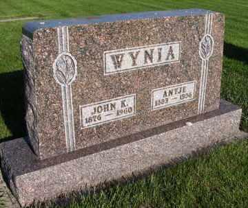 WYNIA, ANTJE - Charles Mix County, South Dakota   ANTJE WYNIA - South Dakota Gravestone Photos