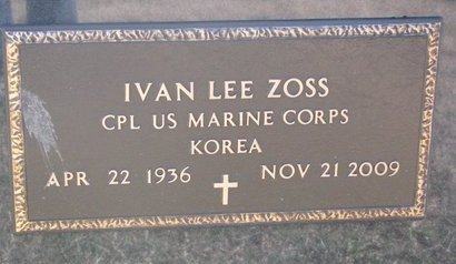 ZOSS, IVAN LEE (MILITARY) - Charles Mix County, South Dakota | IVAN LEE (MILITARY) ZOSS - South Dakota Gravestone Photos